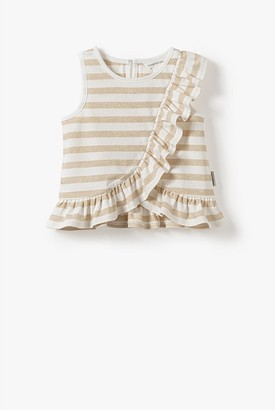 Country Road Organically Grown Cotton Frill Detail Tank