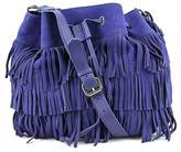 Vince Camuto Riqui Hobo Bag Women Suede Blue Hobo.