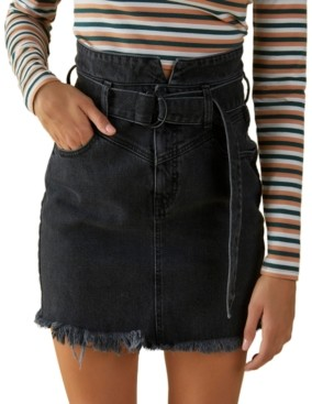 GUESS Belted 80s Skirt