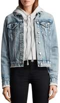 AllSaints Hay Buckle Detail Denim Jacket