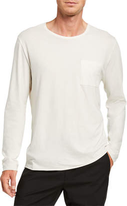 Vince Pocket-Front Long-Sleeve T-Shirt
