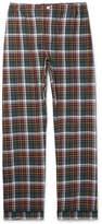Sleepy Jones Marcel Piped Checked Cotton-Flannel Pyjama Trousers