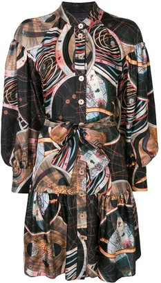 Ginger & Smart Abstract-Print Shirt Dress