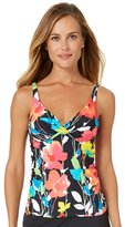 Anne Cole Women's Growing Floral Twist Front Over The Shoulder Tankini Swim Top-40C