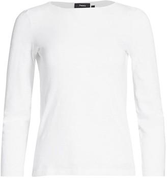 Theory Boatneck Long-Sleeve T-Shirt