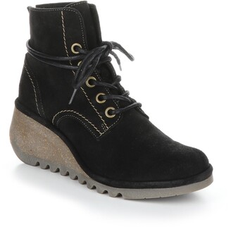 Fly London Nero Lace-Up Bootie