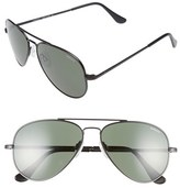 Randolph Engineering Men's 'Concorde' 57Mm Aviator Sunglasses - Matte Black