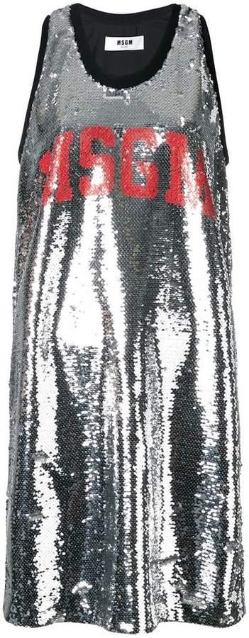 MSGM sequinned tank dress
