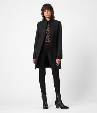 AllSaints Leni Wool Blend Coat