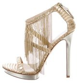 Brian Atwood Cassiane Chain-Link Sandals