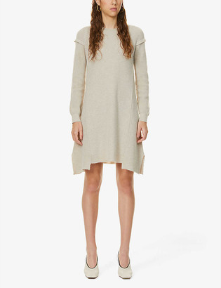 Stella McCartney Deconstructed wool and alpaca-blend mini dress