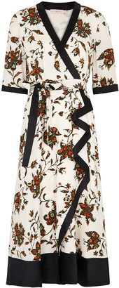 Tory Burch Floral-print silk wrap dress