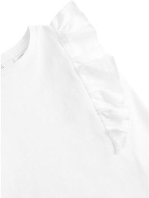 MANGO Girls Frill Detail Sleeveless Tshirt - White