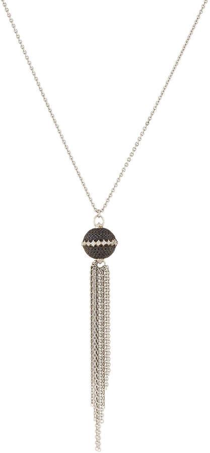 Armenta New World Black Sapphire Ball & Tassel Pendant Necklace