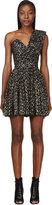 Saint Laurent Black & Silver One-Shoulder Bustier Dress