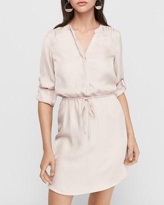 Express Tie Waist Shirt Dress
