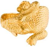 Kenneth Jay Lane Crocodile Cuff Watch