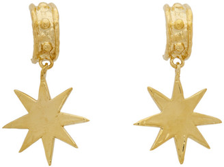 MONDO MONDO Gold Brass Star Earrings