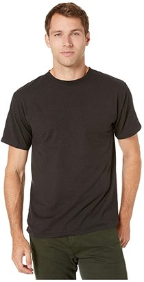 Hanes ComfortWashtm Garment Dyed Short Sleeve T-Shirt (Black) Clothing