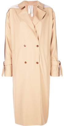 BODICE pleats detail trench coat