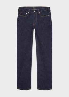Paul Smith Men's Slim-Fit Indigo-Rinse 'Crosshatch Stretch' Jeans