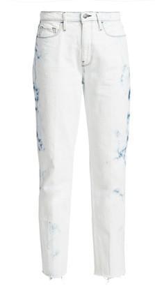 Frame Le Sylvie High-Rise Crop Straight Raw Edge Jeans