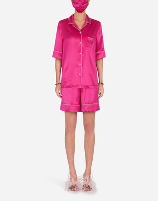 Dolce & Gabbana Pajama Set With Matching Face Mask