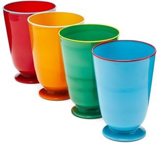 La DoubleJ Set Of Four Murano Glasses - Multi