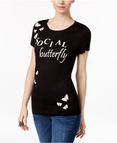 INC International Concepts Embellished Butterfly T-Shirt, Only at Macy's