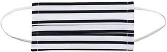 Baukjen Premium Organic Cotton Face Mask - Soft White & Navy Stripe