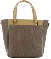 Etro Brown Leather Handle Bag