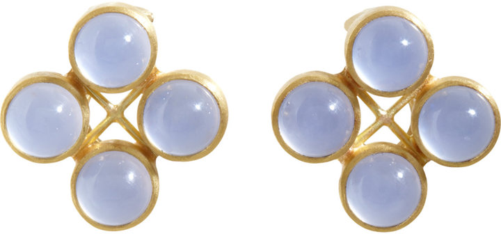 Mallary Marks Chalcedony High Wire Stud Earrings