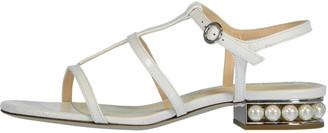 Nicholas Kirkwood Croco Embossed Casati Strap Sandal