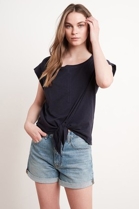 Velvet by Graham & Spencer Ann Knot Front Tee