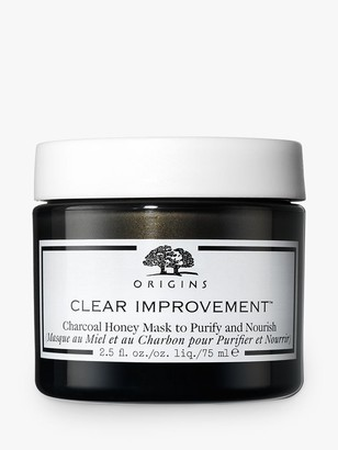Origins Clear Improvement Charcoal Honey Mask to Purify and Nourish, 75ml