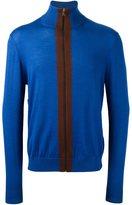 Paul Smith contrast zip cardigan