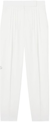 Burberry Location Print Wool-Blend Tailored Trousers