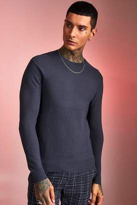 boohoo Fine Ribbed Knit Jumper