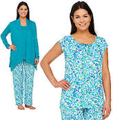 Carole Hochman Ultra Jersey Spring Bloom 4 PC Pajama Set