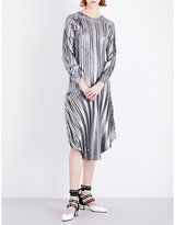 Sharon Wauchob Pleated metallic silk dress