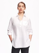 Old Navy Classic White Popover Tunic for Women
