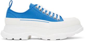 Alexander McQueen SSENSE Exclusive Blue Tread Slick Sneakers