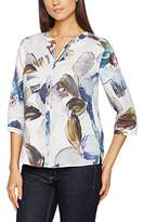 Gerry Weber Women's Leaf Print Casual Fit Blouse