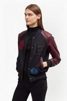 French Connection Viv Varsity Patch Jacket