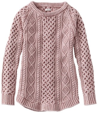 L.L. Bean Women's Signature Cotton Fisherman Tunic Sweater, Washed