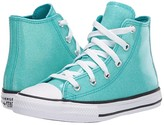 Converse Chuck Taylor(r) All Star(r) Coated Glitter (Little Kid/Big Kid) (Rapid Teal/Black/White) Girl's Shoes