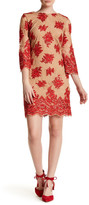 Dress the Population Floral Lace Contrast Melody Dress