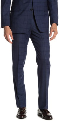 "Brooks Brothers Navy Windowpane Regent Fit Suit Separates Trousers - 30-34"" Inseam"