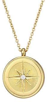 Astley Clarke Women's Medium 18K Goldplated, Sterling Silver & White Sapphire Star Locket Pendant Necklace