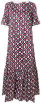 Fay novelty print flared dress